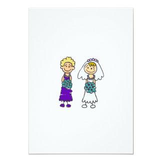 Cute Lesbian Brides Card