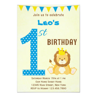 Cute Lion Invitations Announcements Zazzleconz