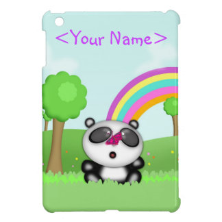 Cute Little Baby Panda Bear Cartoon Animal iPad Mini Covers