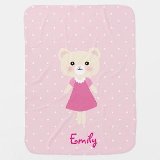 Cute little bear with polka dots Baby Blanket