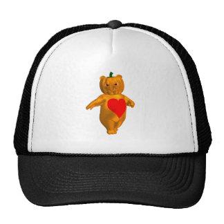 Cute Little Bear With Pumpkin Head Cap