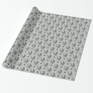 Cute Little Black Capped Chickadee Birds Wrapping Paper