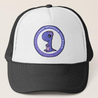 Cute Little Blue and Purple Dinosaur Trucker Hat