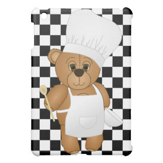 Cute Little Chef Costume Teddy Bear Cartoon Case For The iPad Mini