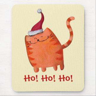 Cute Little Christmas Cat Mousepad