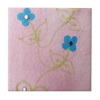 Cute Little Flowers Small Square Tile