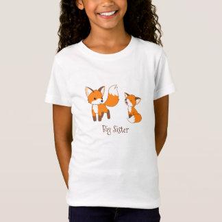 Cute Little Foxes - Big Sister T-Shirt