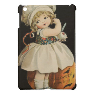 Cute Little Girl Jack O' Lantern Pumpkin iPad Mini Cover
