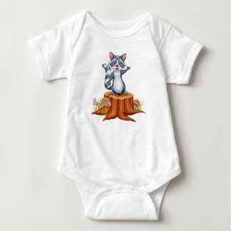 Cute little Racoon Baby Bodysuit