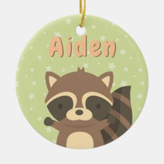 Cute Little Racoon Woodland Kids Ornament