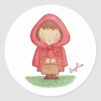 Cute Little Red Riding Hood Storybook Sticker
