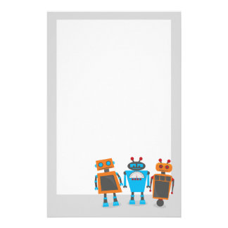 Cute Little Robots Stationery