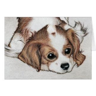 Cute little Spaniel dog art Note Card