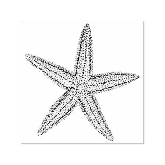 Cute Little Starfish Beach Wedding Invitation Self-inking Stamp