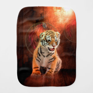Cute little tiger baby burp cloth