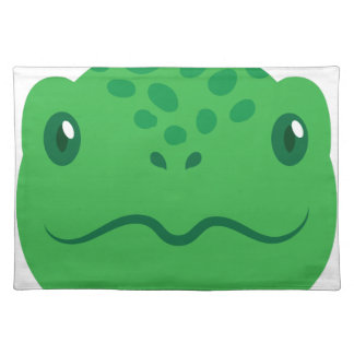 cute little tortoise turtle face placemat