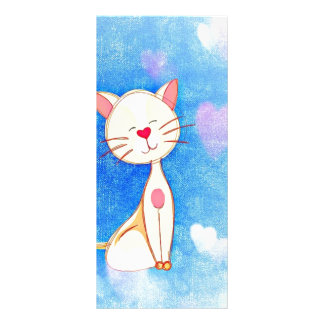 Cute Love Cat Full Colour Rack Card