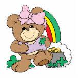 cute luck of the irish st patricks girl teddy bear