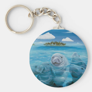 Cute Manatee Basic Key Chain