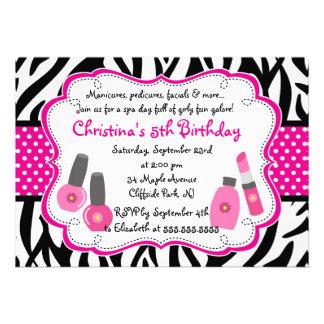 Cute Manicure Spa Birthday Party Invitation Personalized Invitation