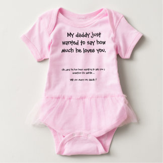 Cute Marriage Proposal Baby Bodysuit