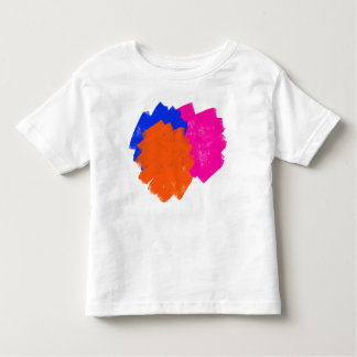 Cute messy colorful splashes toddler T-Shirt