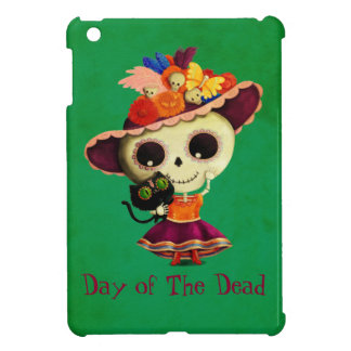 Cute Mexican Day of The Dead Girl iPad Mini Covers