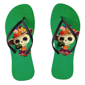 Cute Mexican Day of The Dead Girl Thongs