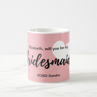 Cute Modern Calligraphy Bridesmaid Coffee Mug