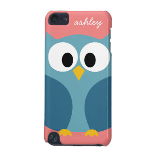 Cute Modern Cartoon Owl with huge eyes iPod Touch (5th Generation) Cases