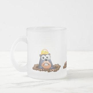Cute Mole Digging Cartoon Mug