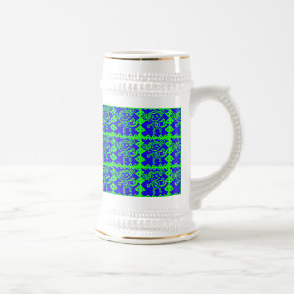 Cute Monkey Blue Lime Green Animal Pattern Coffee Mugs