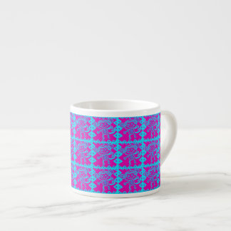 Cute Monkey Magenta Teal Animal Pattern Kids Gifts Espresso Mug
