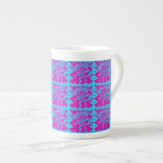 Cute Monkey Magenta Teal Animal Pattern Kids Gifts Porcelain Mugs