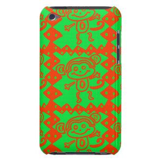 Cute Monkey Orange Green Animal Pattern iPod Touch Case-Mate Case