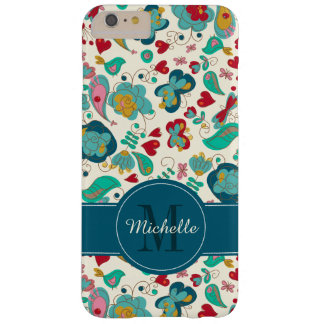 Cute Monogram Floral Boho Chic Barely There iPhone 6 Plus Case