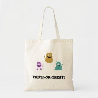 Cute Monsters Halloween Treat Bag