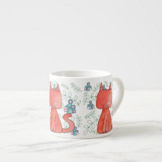 Cute Mouse Loves Kitty Cat Espresso Mug