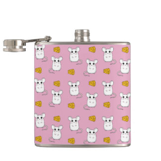 Cute Mouse pattern Hip Flask