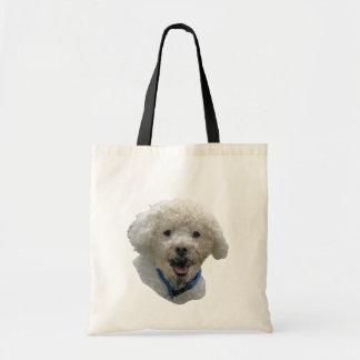 Cute Muddy Face Dog Tote Bag