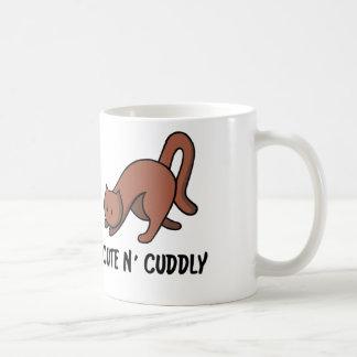 """""""Cute N' Cuddly"""" Cat Mug"""