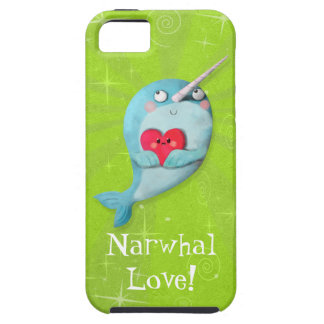 Cute Narwhal with Heart Tough iPhone 5 Case