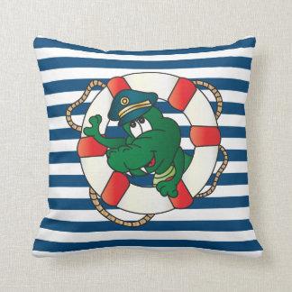 Cute Nautical Alligator Nursery Theme Pillows