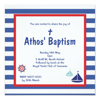 Cute Nautical Boys Invite