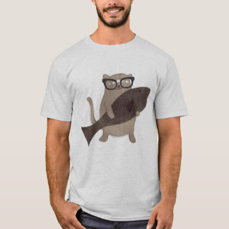 Cute Nerdy Cat T-shirt