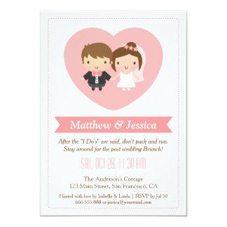 Cute Newlyweds Post Wedding Brunch Invitations