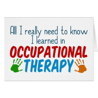 Cute Occupational Therapy Handprints Card