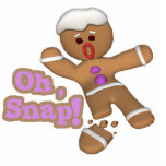 cute oh, snap gingerbread man cookie photo cutout