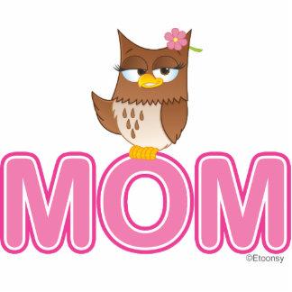 Cute Olivia VonHoot Cartoon for Mom Standing Photo Sculpture