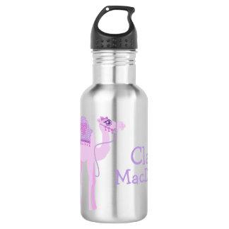 Cute one humped camel purple kids drinks bottle